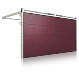 brama segmentowa garażowa wiśniowski hi modern maroon